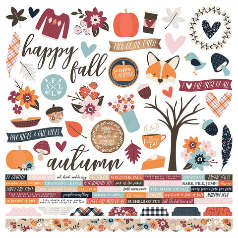 "(Pre Order) Simple Stories - Forever Fall Cardstock Stickers 12""X12"" - Combo"