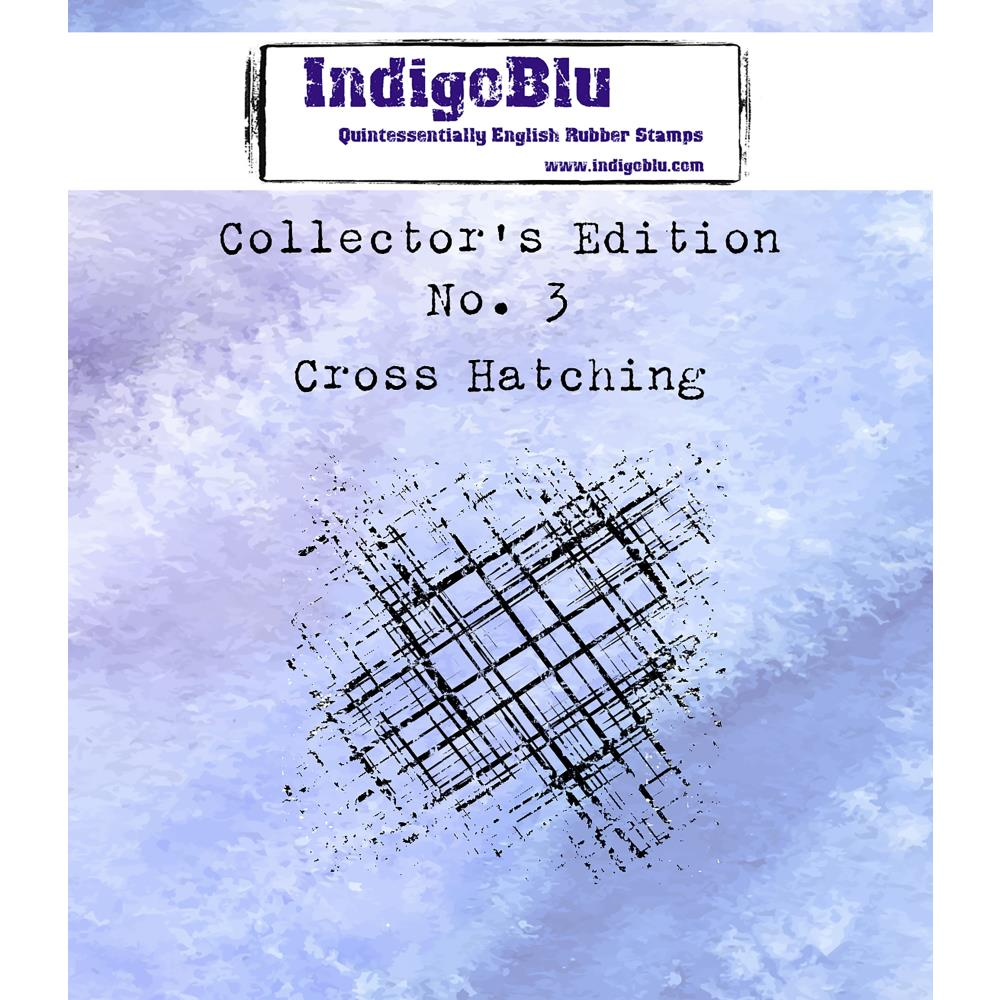 "IndigoBlu - Cling Mounted Stamp 2""X2"" - Cross Hatching"