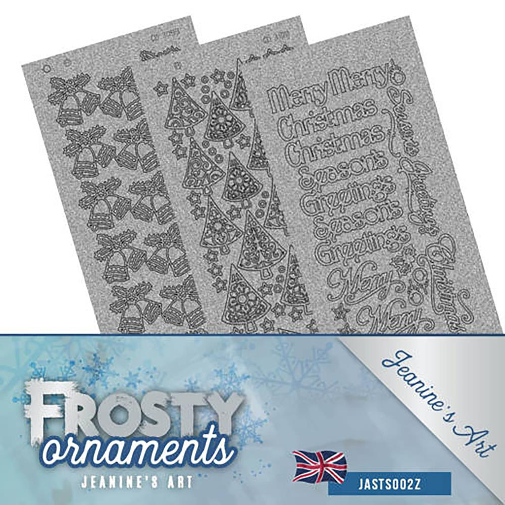 Find It Trading - Jeanine's Art Sticker Set 3/Pkg - Frosty Ornaments; Silver