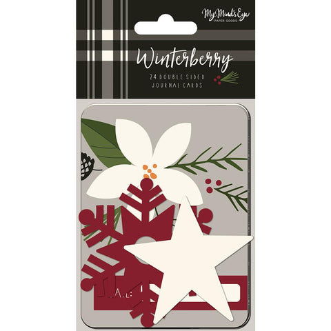 "My Mind's Eye - Winterberry Double-Sided Journal Cards 24/Pkg - 3""X4"""
