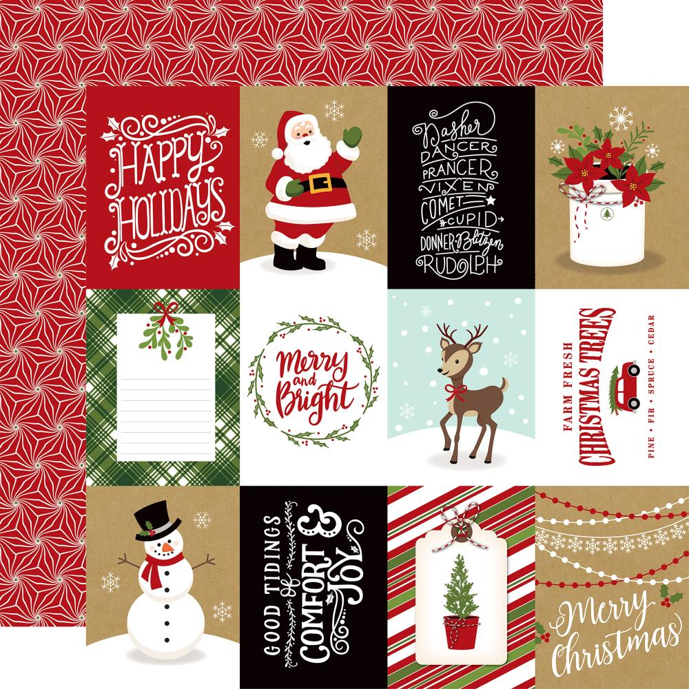 "Echo Park - Celebrate Christmas Double-Sided Cardstock 12""X12"" 3""X4"" - Journaling Cards"