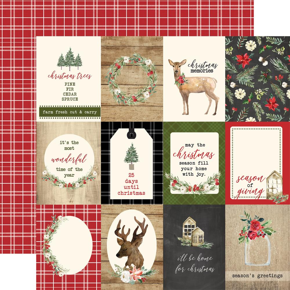 "Carta Bella - Christmas Double-Sided Cardstock 12""X12"" - 3""X4""Journaling Cards"