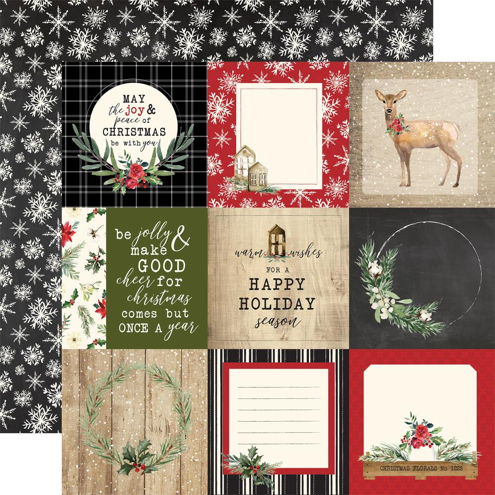 "Carta Bella - Christmas Double-Sided Cardstock 12""X12"" 4""X4"" - Journaling Cards"