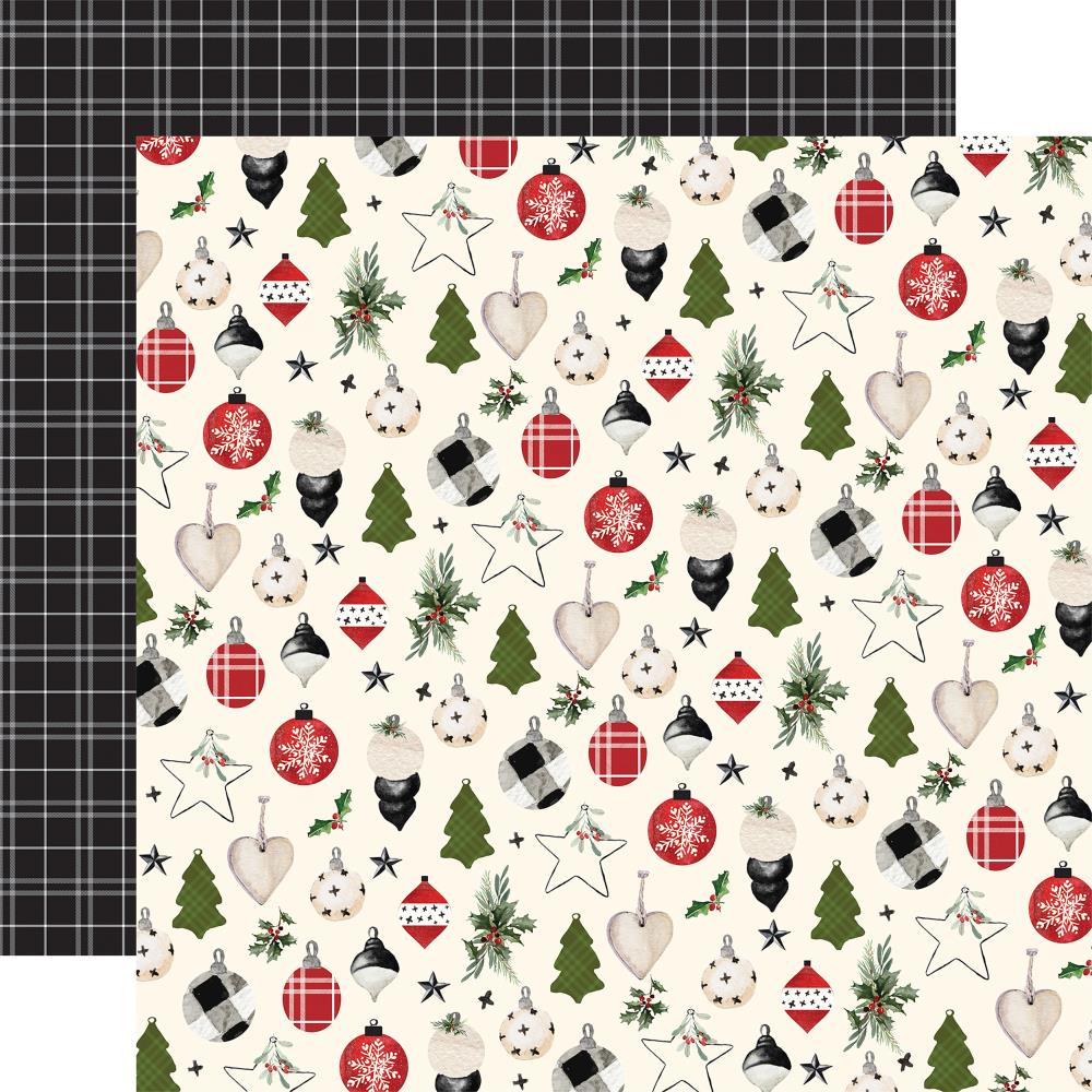 "Carta Bella - Christmas Double-Sided Cardstock 12""X12"" - Festive Ornaments"