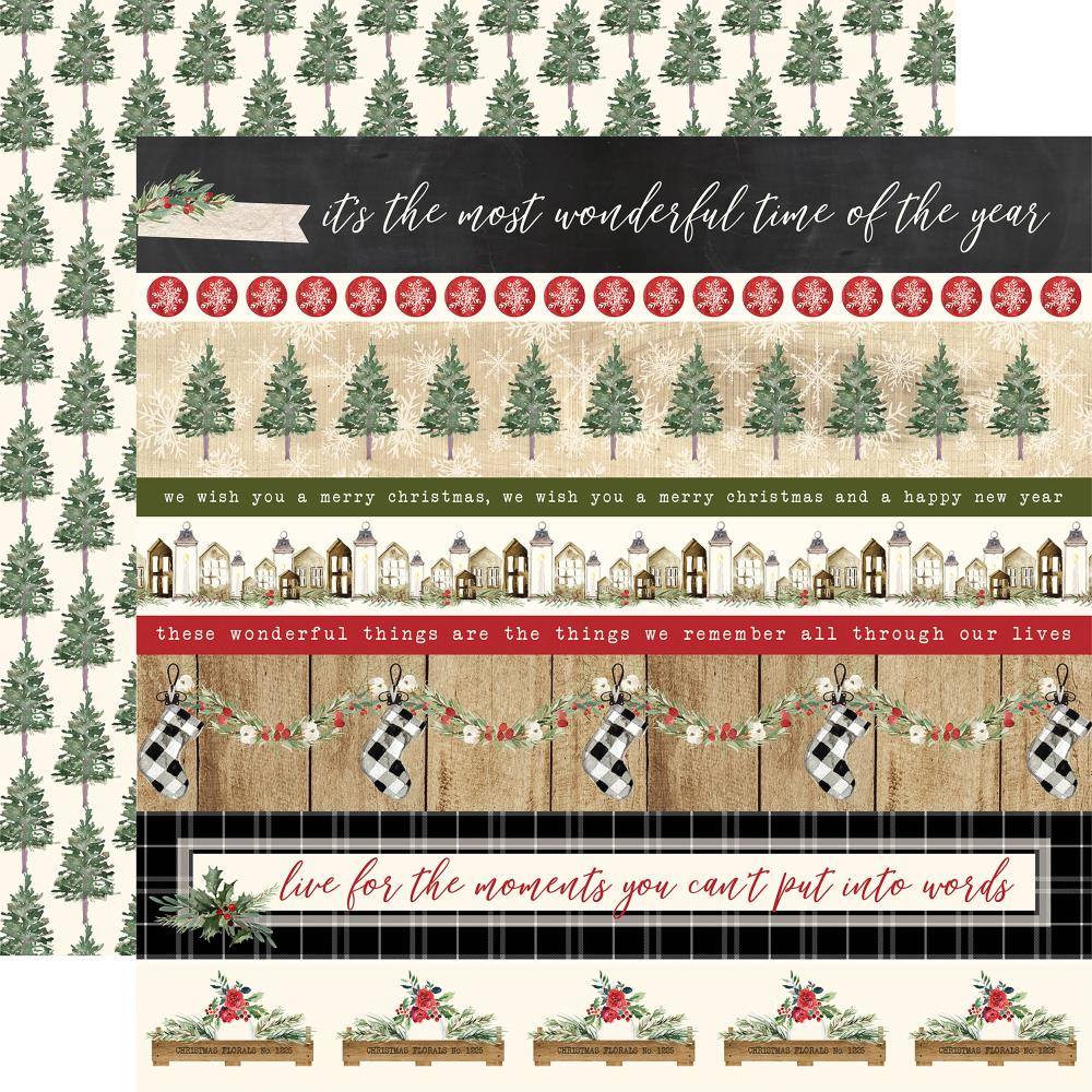 "Carta Bella - Christmas Double-Sided Cardstock 12""X12"" - Border Strips"