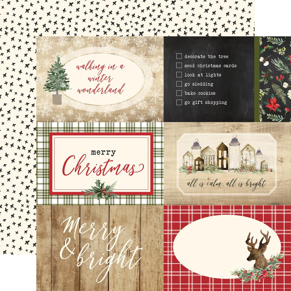 "Carta Bella - Christmas Double-Sided Cardstock 12""X12"" 4""X6"" - Journaling Cards"