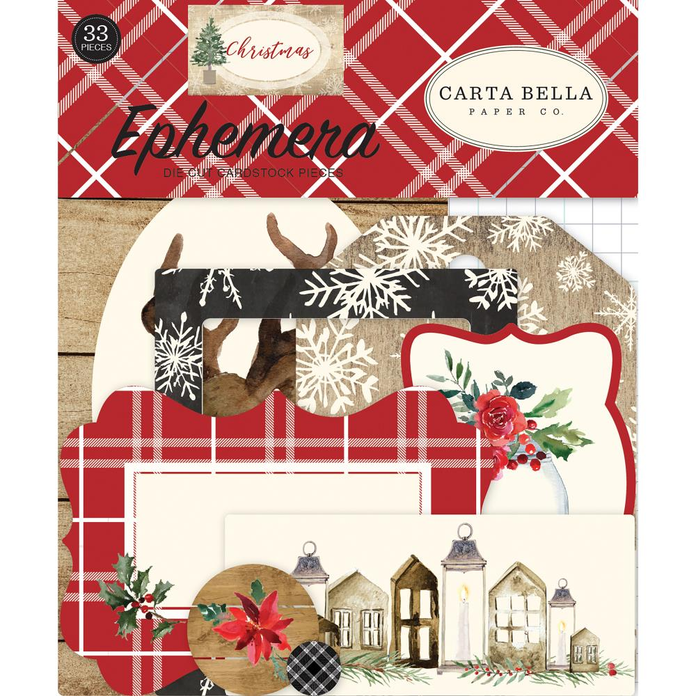 Carta Bella - Christmas Ephemera Cardstock Die-Cuts 33/Pkg - Icons