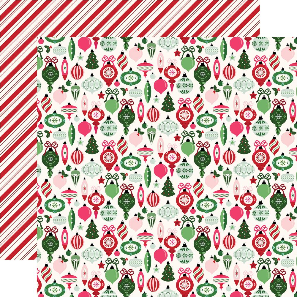 "Echo Park - Merry & Bright Double-Sided Cardstock 12""X12"" - Trim The Tree"