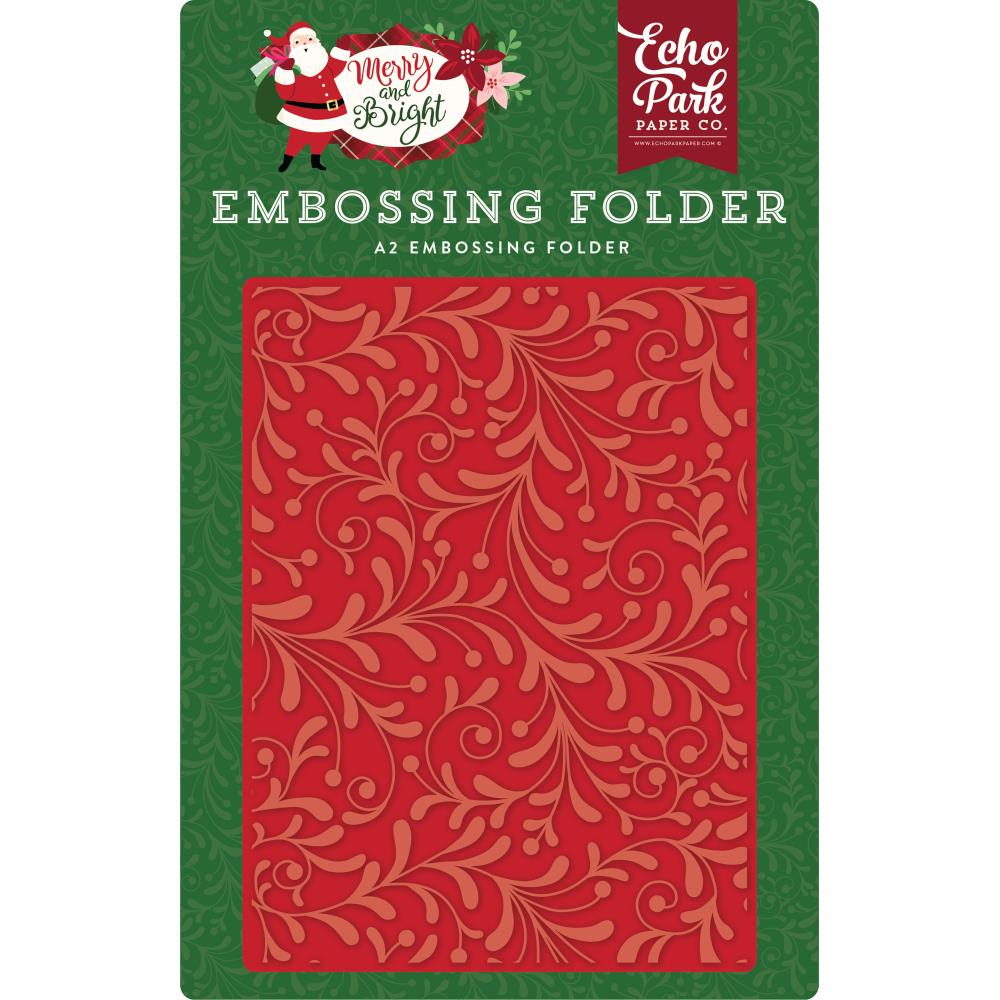 Echo Park - Embossing Folder A2 - Holiday Flourish