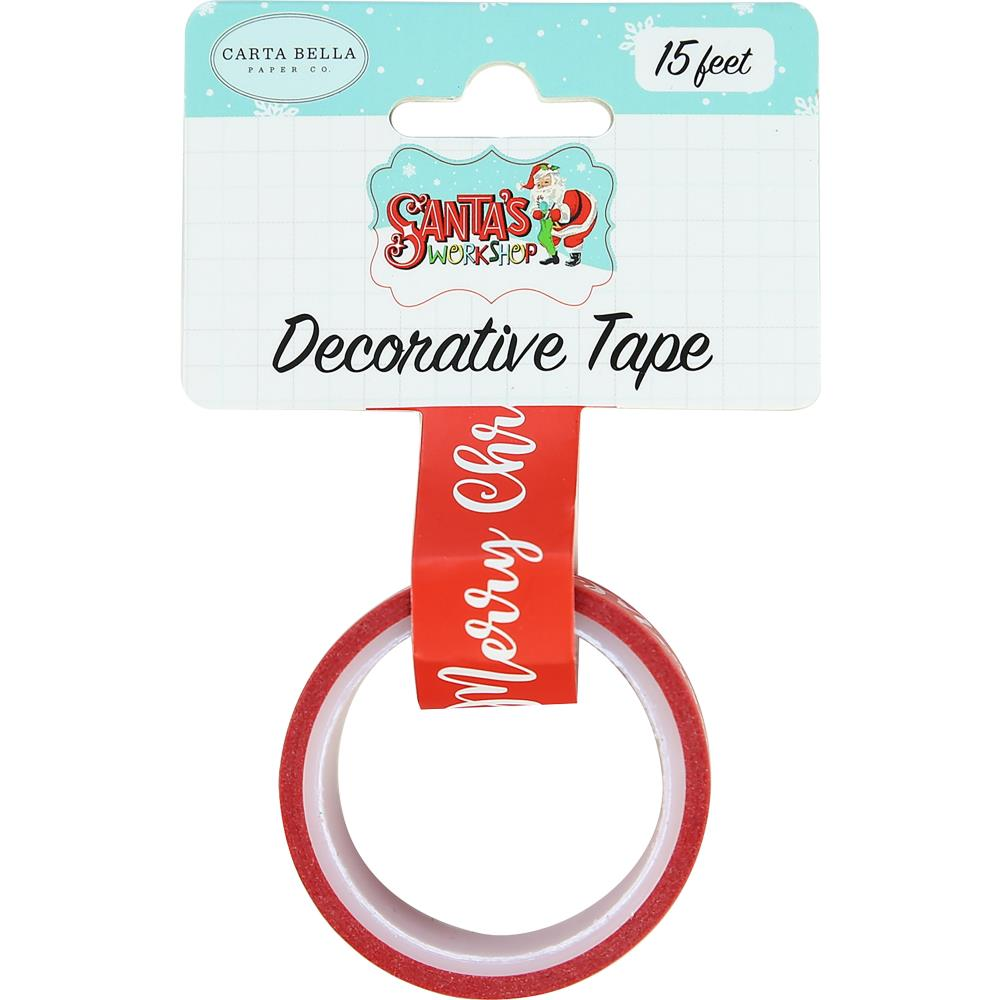 Carta Bella - Santa's Workshop Decorative Tape 15' - Merry Christmas