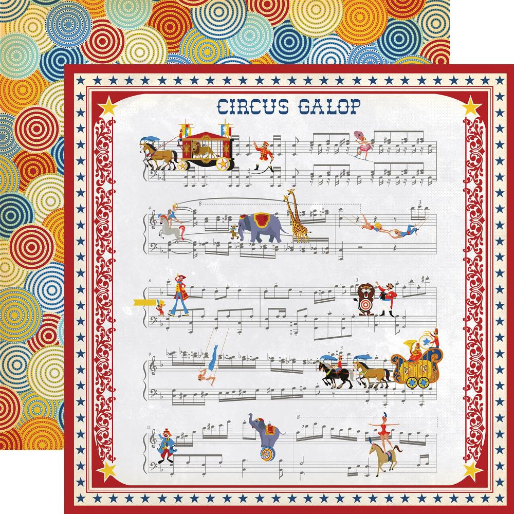 "Carta Bella - Circus Double-Sided Cardstock 12""X12"" - Music Sheet"