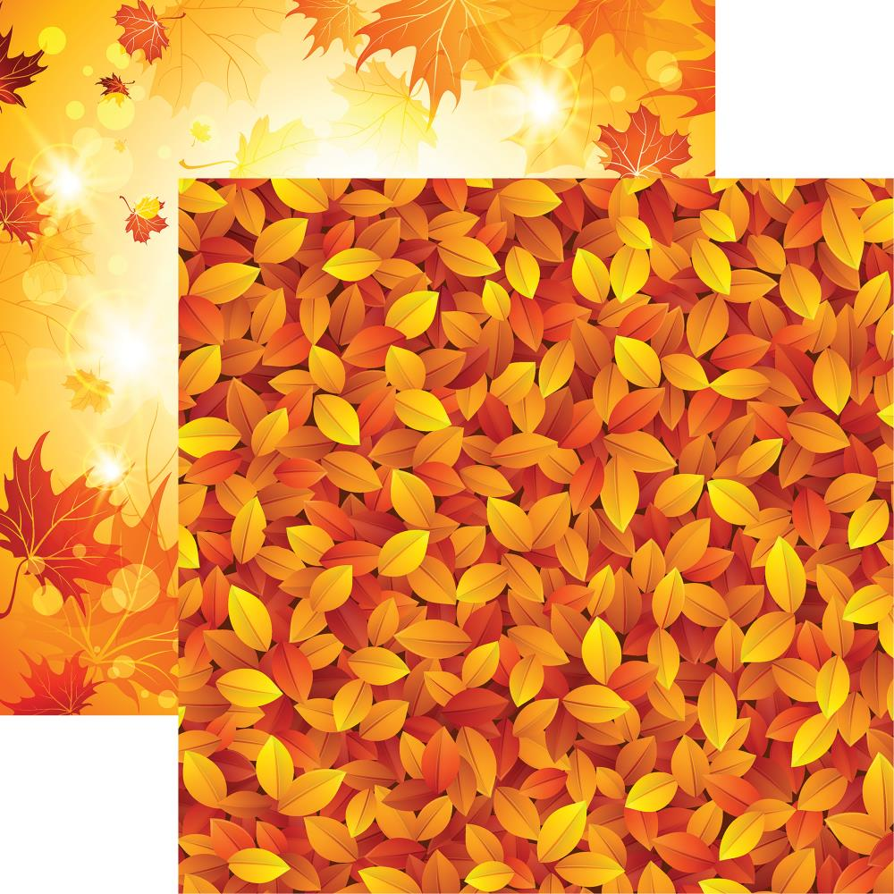 "Reminisce - Autumn Splendor Double-Sided Cardstock 12""X12"" - Splashes Of Color"