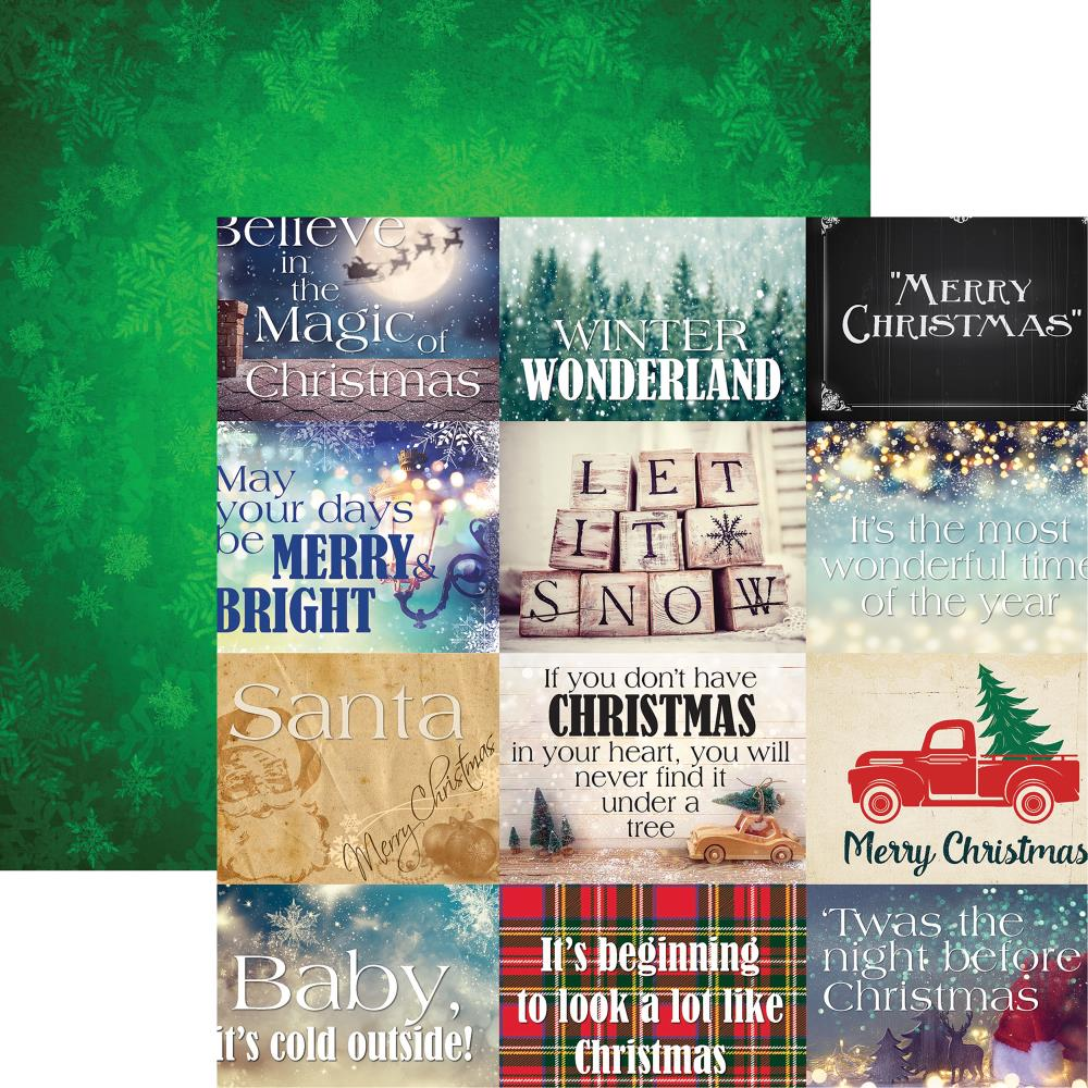 "Reminisce - Christmas Spirit Double-Sided Cardstock 12""X12"" - Christmas Spirit"
