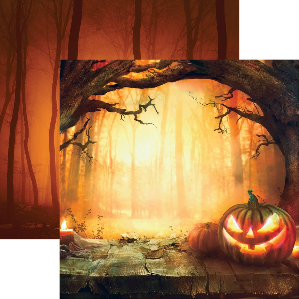 "Reminisce - Pumpkin Hallow Double-Sided Cardstock 12""X12"" - Sunset Pumpkin"