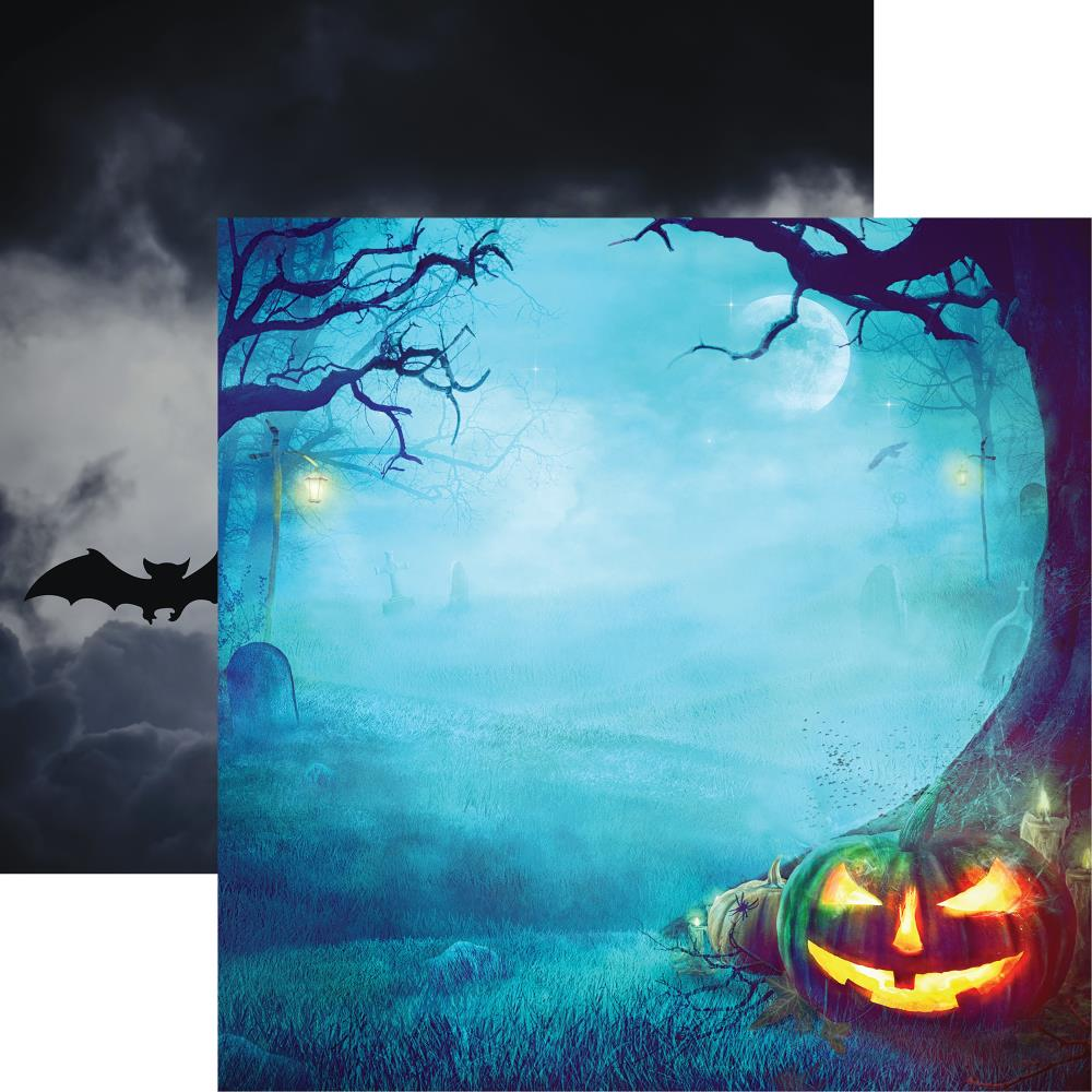 "Reminisce - Pumpkin Hallow Double-Sided Cardstock 12""X12"" - Night Of The Pumpkin"
