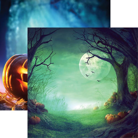 "Reminisce - Pumpkin Hallow Double-Sided Cardstock 12""X12"" - Pumpkin Hallow"