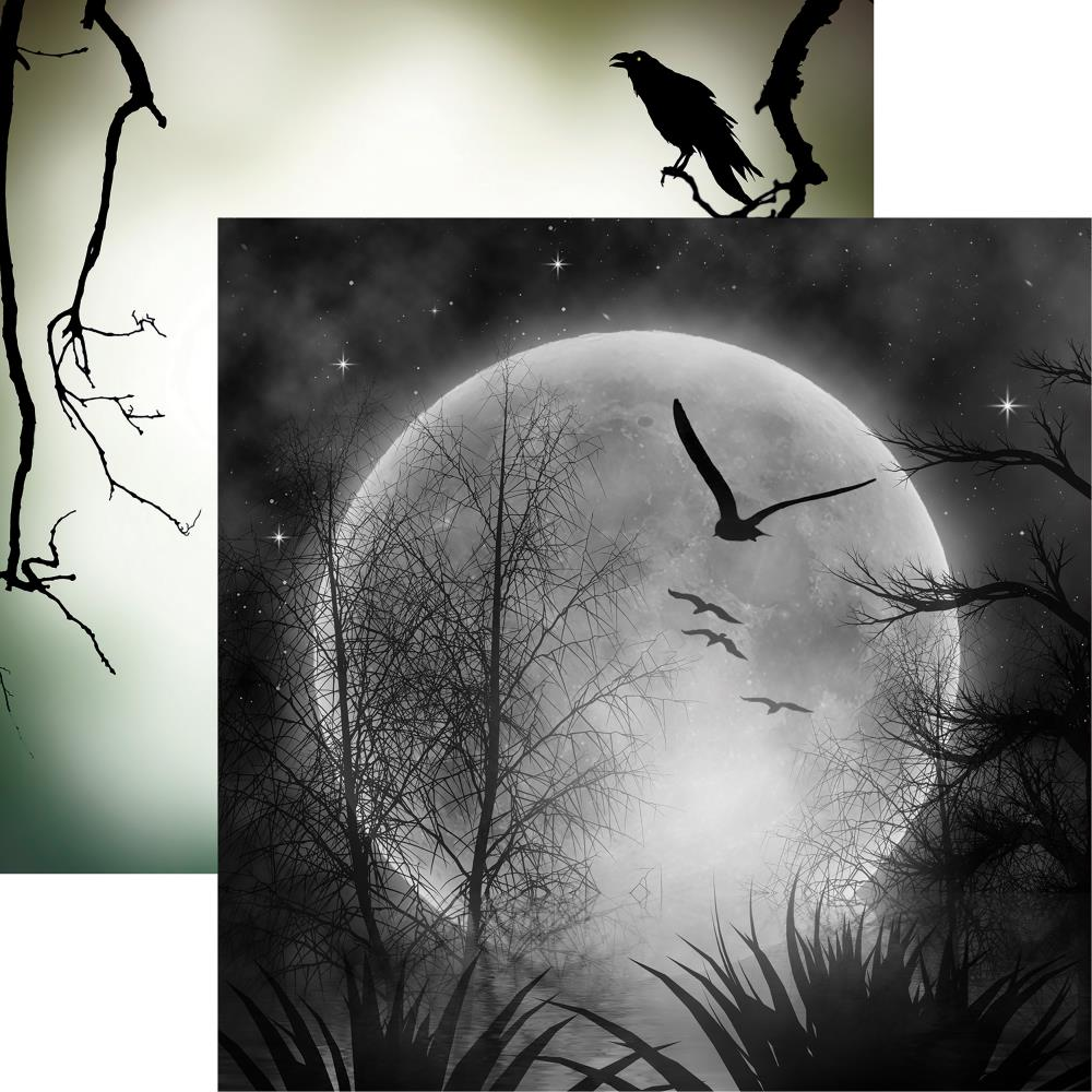 "Reminisce - Spooky Night Double-Sided Cardstock 12""X12"" - Full Moon"