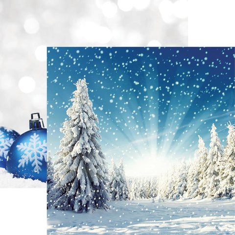 "Reminisce - Winter Wonderland Double-Sided Cardstock 12""X12"" - Winter Wonderland"
