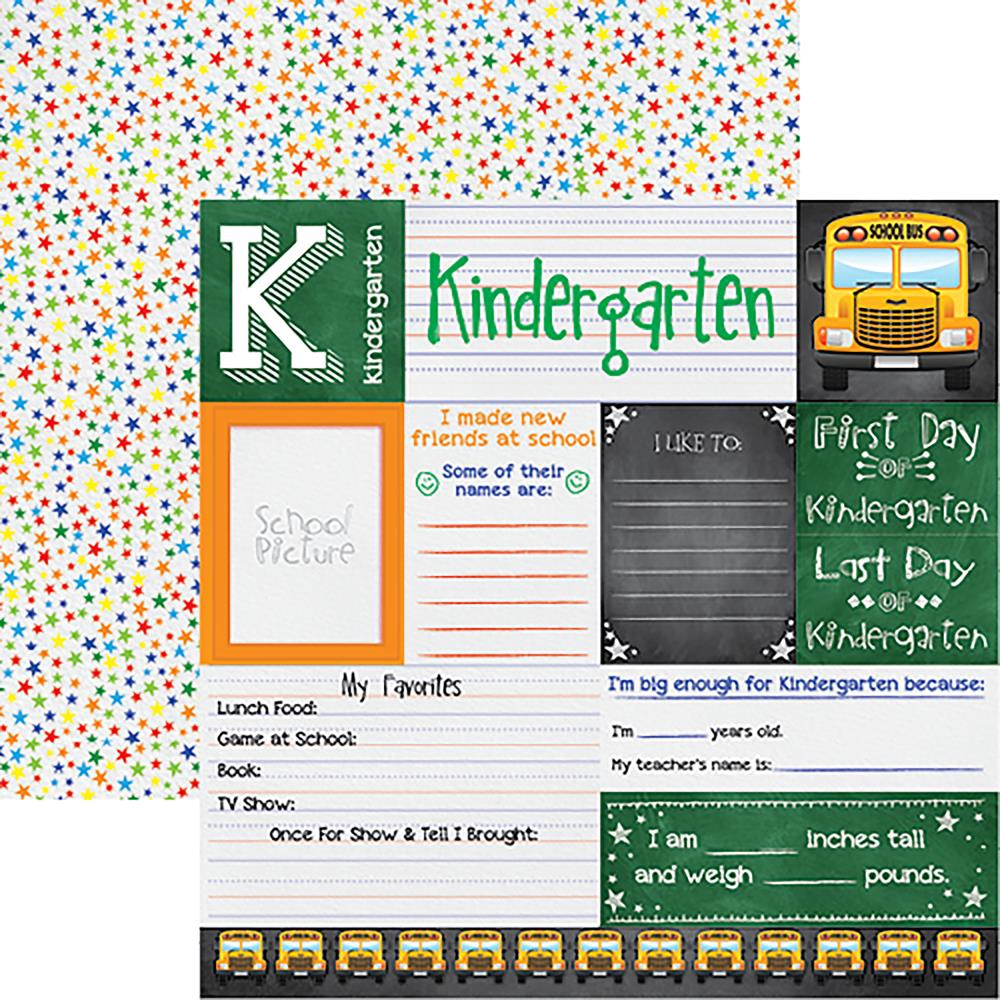 "Reminisce - You've Been Schooled Double-Sided Cardstock 12""X12"" - Kindergarten"