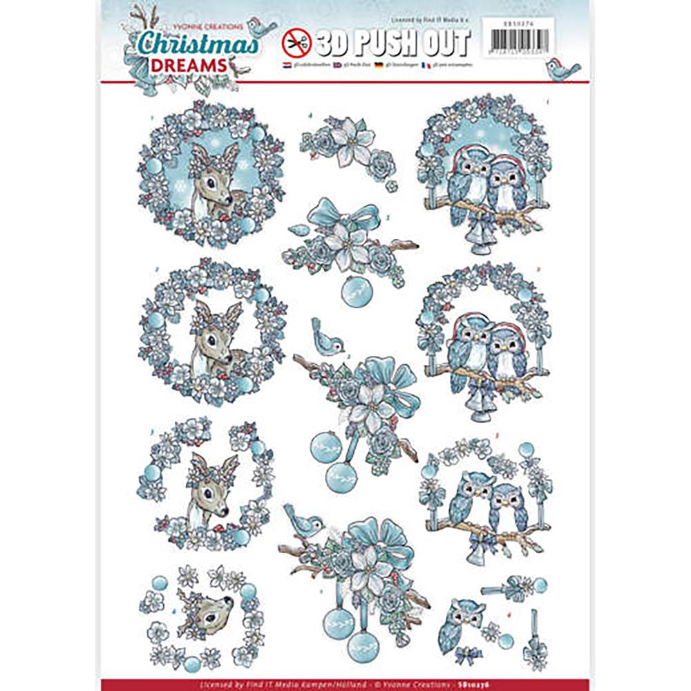 Find It Trading - Yvonne Creations Christmas Dreams - 3D Push Out Sheet - Christmas Animals