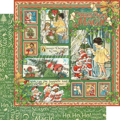 "Graphic 45 - Christmas Magic Double-Sided Cardstock 12""X12"" - Christmas Magic"