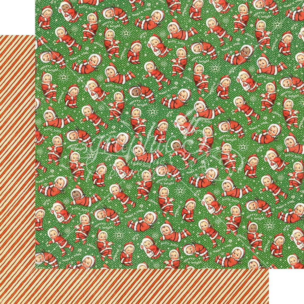 "Graphic 45 - Christmas Magic Double-Sided Cardstock 12""X12"" - Santa's Little Helpers"