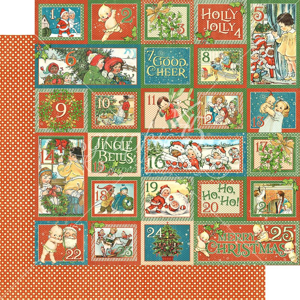 "Graphic 45 - Christmas Magic Double-Sided Cardstock 12""X12"" - Countdown Surprise"