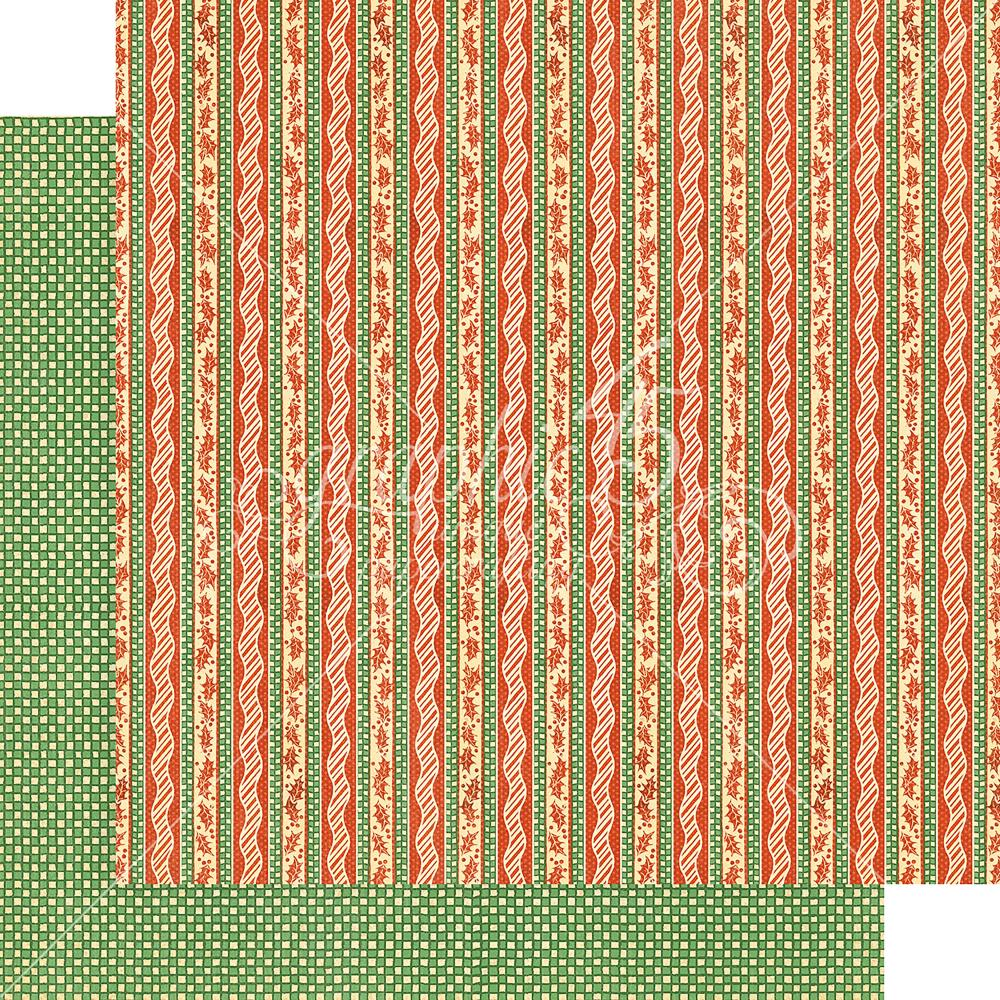 "Graphic 45 - Christmas Magic Double-Sided Cardstock 12""X12"" - Candy Cane Ribbons"