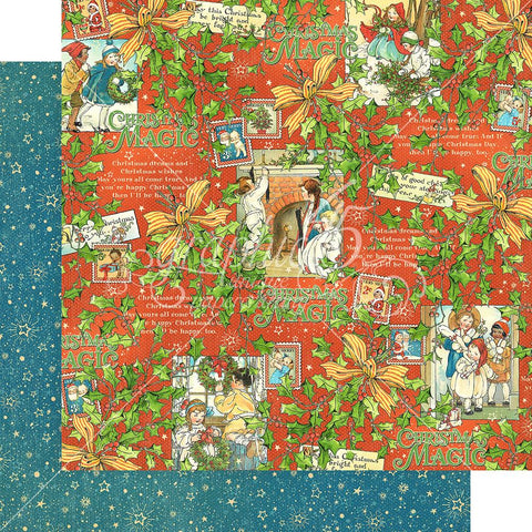 "Graphic 45 - Christmas Magic Double-Sided Cardstock 12""X12"" - Merry Memories"