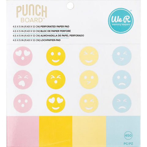 "(Pre Order) We R Memory Keepers Emoji Paper Pad 4.5""X5"" - For Use With Emoji Punch Board (661810)"