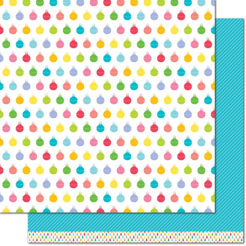 "(Pre Order)  Lawn Fawn - Really Rainbow Christmas Double-Sided Cardstock 12""X12"" - Icy Blue"