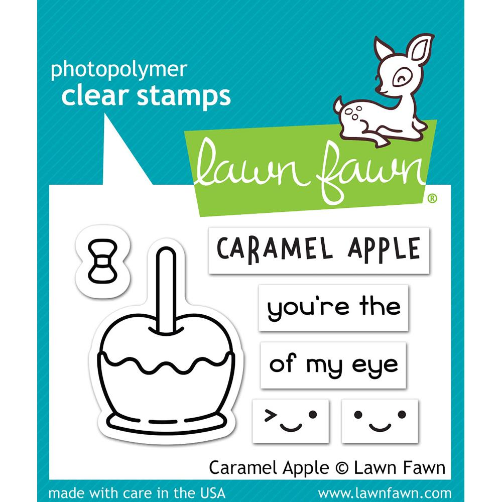 "Lawn Fawn - Clear Stamps 3""X2"" - Caramel Apple"