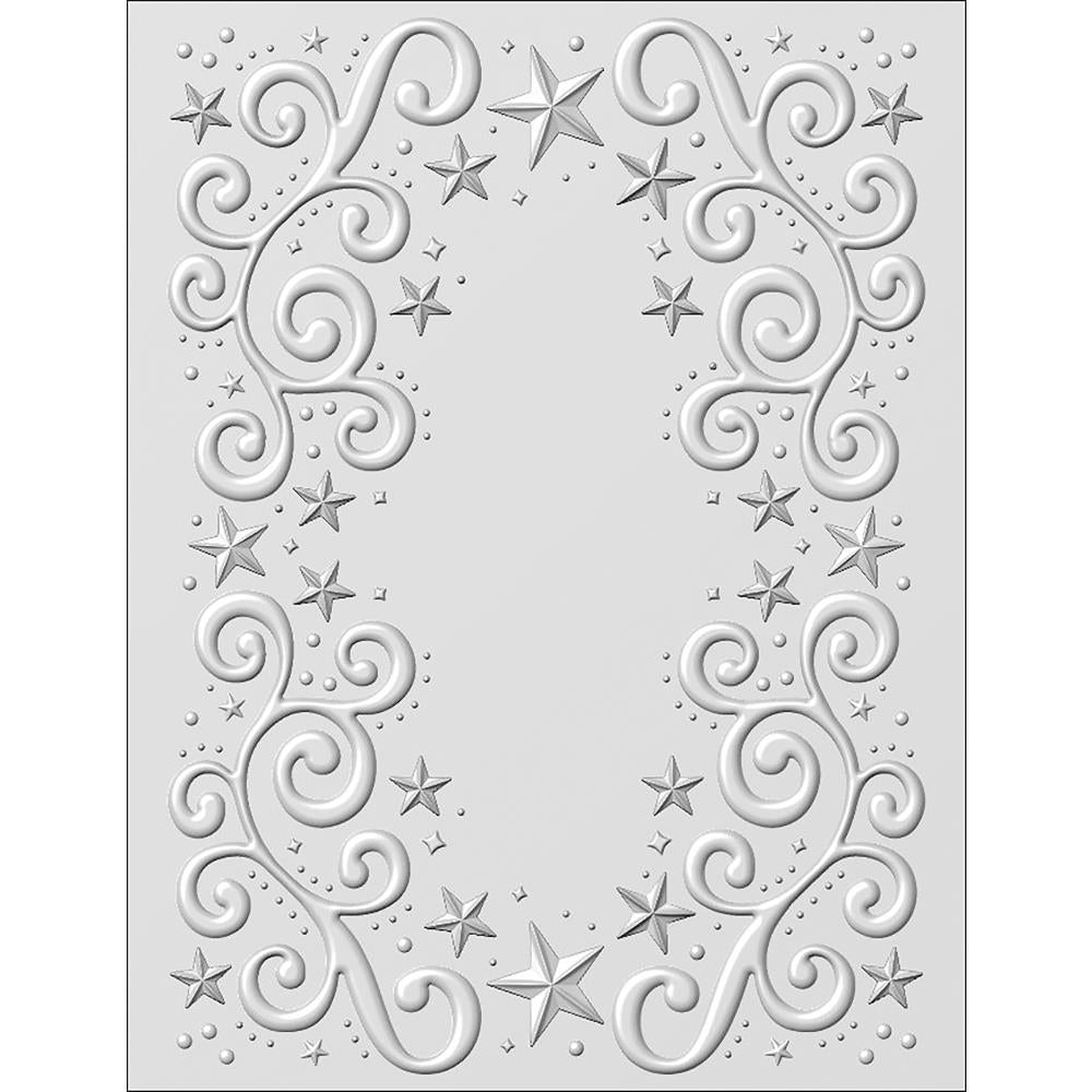 "Creative Expressions -  3D Embossing Folder 5.75""X7.5"" - Twinkle Swirls"