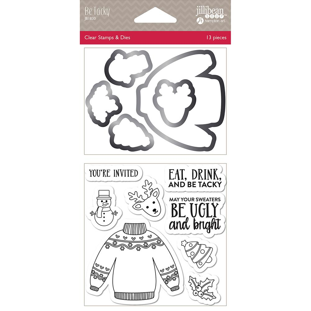 Jillibean Soup - Shaker Clear Stamps & Die Set - Be Tacky