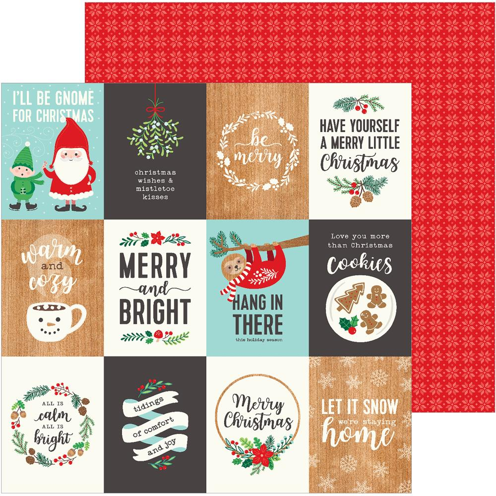 "Pebbles - Cozy & Bright Double-Sided Cardstock 12""X12"" - Merry Little Christmas"