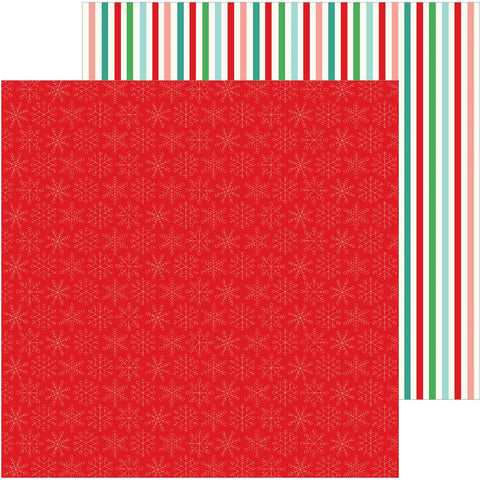 "Pebbles - Cozy & Bright Double-Sided Cardstock 12""X12"" - Merry & Bright"