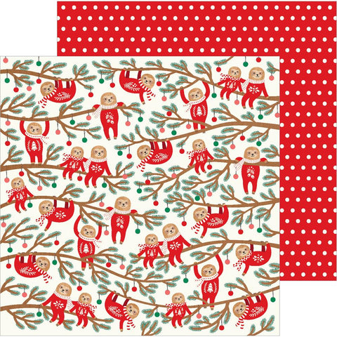"Pebbles - Cozy & Bright Double-Sided Cardstock 12""X12"" - Jingle All The Way"