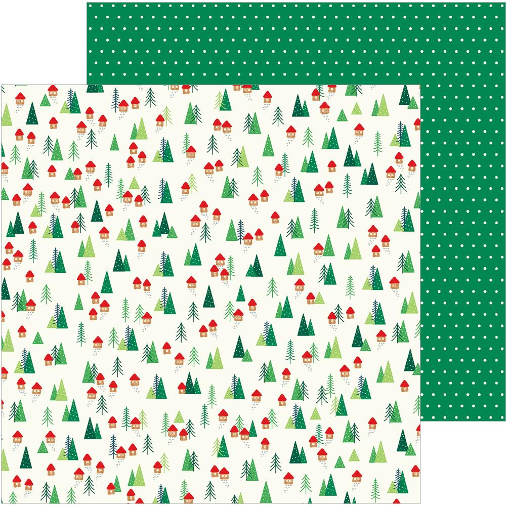 "Pebbles - Cozy & Bright Double-Sided Cardstock 12""X12"" - Home For Christmas"