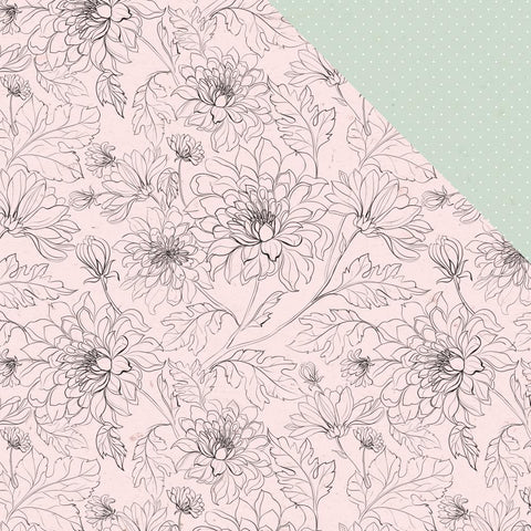 "(Pre Order) Kaisercraft - Everlasting Double-Sided Cardstock 12""X12"" - Bloom"