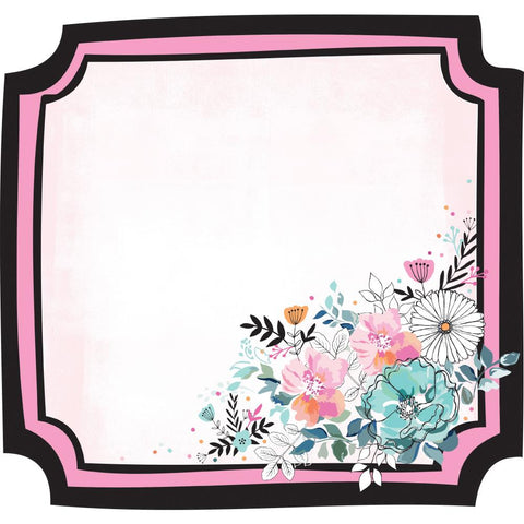 "(Pre Order) Kaisercraft - Blessed Die-Cut Cardstock 12""X12"" - Floral Frame"