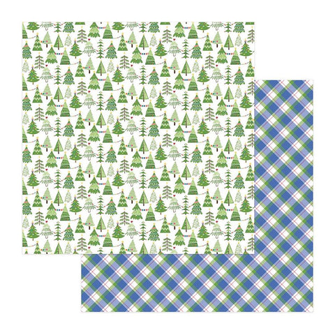 "Photoplay Paper - Frosty Friends Double-Sided Cardstock 12""X12"" - Tree Farm"