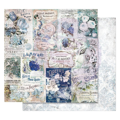 "(Pre Order) Prima Marketing - Georgia Blues Foiled Double-Sided Cardstock 12""X12"" - Memory Lane"