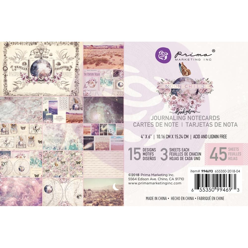 "Prima Marketing - Moon Child Journaling Cards Pad 4""X6"" 45/Pkg - 15 Designs/3 Each"