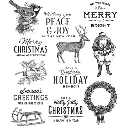 "Tim Holtz - Cling Stamps 7""X8.5"" - Festive Overlay"