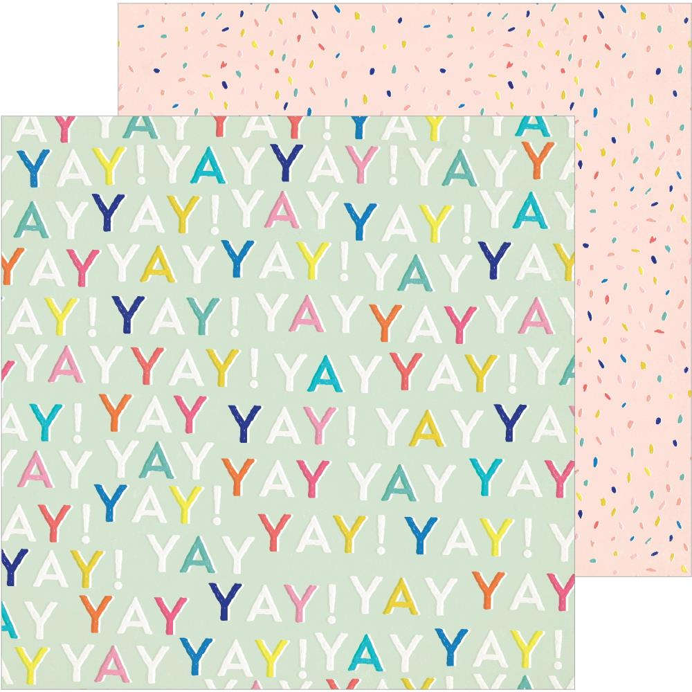 "Crate Paper - Hooray Double-Sided Cardstock 12""X12"" - Yay"