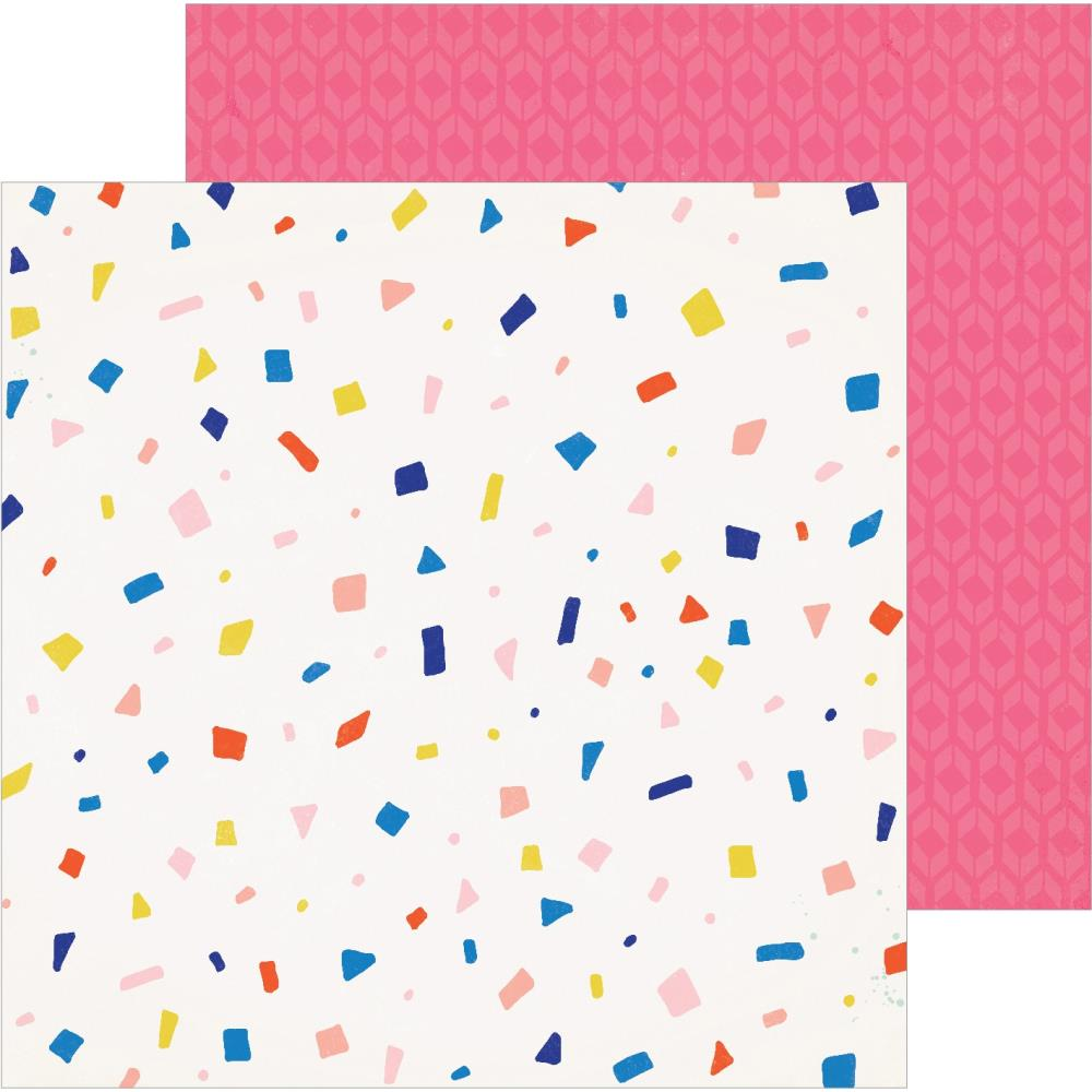 "Crate Paper - Hooray Double-Sided Cardstock 12""X12"" - Confetti"