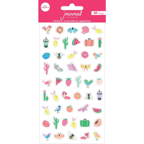 (Pre Order) American Crafts - Journal Studio Puffy Stickers 49/Pkg - Mini Adventure By Amy Tangerine