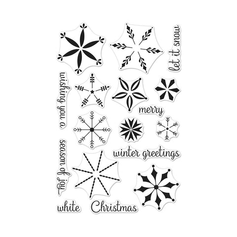 "(Pre Order) Hero Arts -  Clear Stamps 4""X6"" - Stacking Snowflakes"
