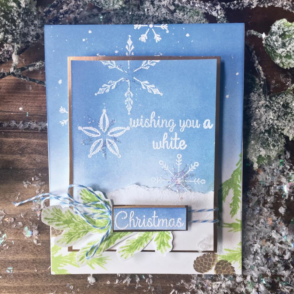 "Hero Arts -  Clear Stamps 4""X6"" - Stacking Snowflakes"