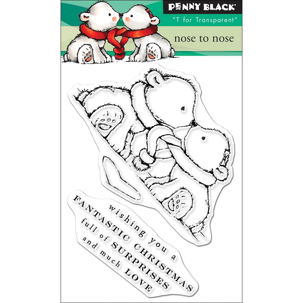 "Penny Black - Mini Clear Stamps - Nose To Nose 3""X4"""